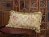 Schweitzer Linen Mignon Aubusson Pillows, Multi-Colored (12' x 24')