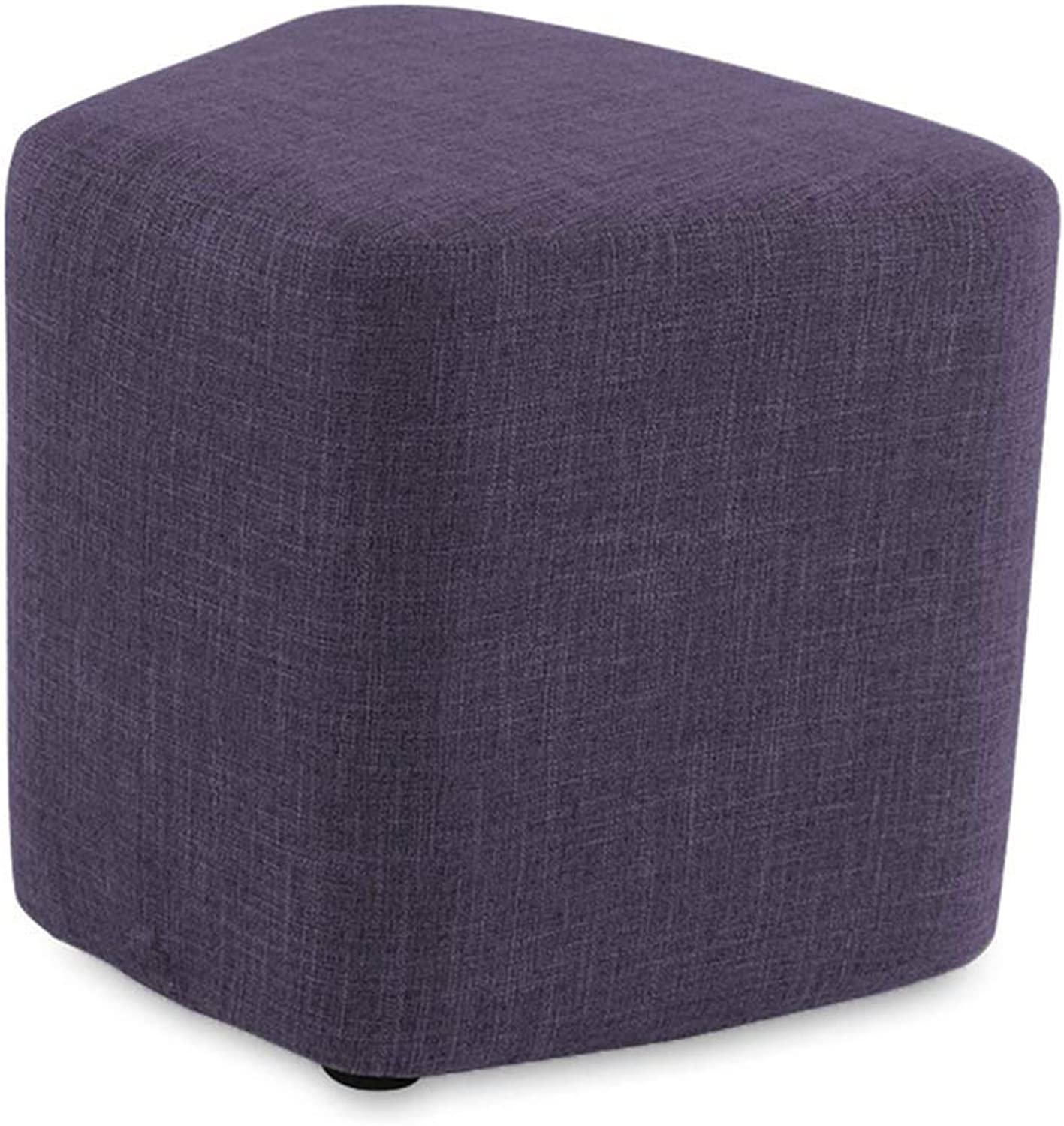 Stools Footstool Work Stool Simple Combination Fashion Household Change shoes Coffee Table Pedestal Multi-color Optional ZHANGQIANG (color   Purple, Size   Large)
