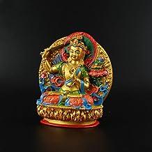 ZGPTX Dazhi Wenshu Master Li Odessa Hand-Painted Tibetan Small Buddha Statue Wisdom Wenshu Sa Wonderful Auspicious