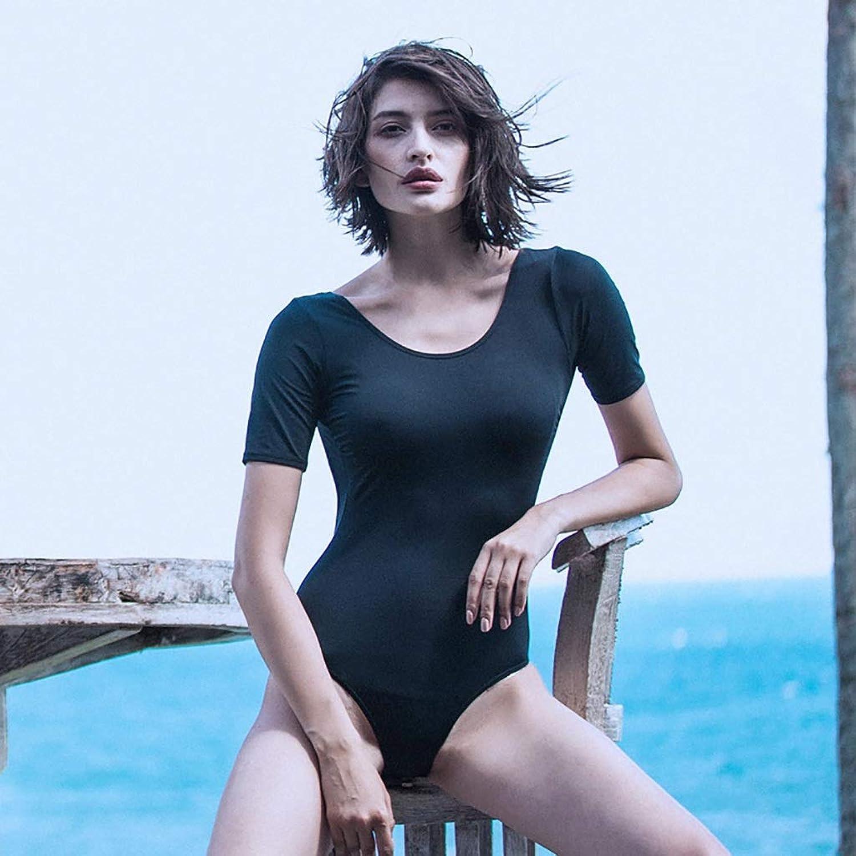 ZXCC One-piece Swimsuit, Sexy Backless Slim Swimsuit (color  Black) (color   BLACK, Size   L)