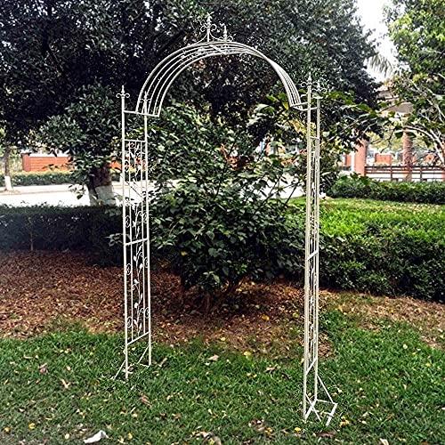 GTJF Arche de Jardin Jardin Arches en Fer forgé Palais Style Style Arches Gracieusfes Convient aux Plantes d'escalade Vignes de Rose Terrasse extérieure Mariages (Color : White, Size : 120cm)