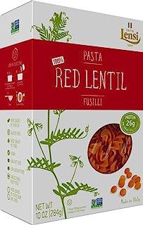 Lensi Red Lentil Fusilli Pasta 10 oz (Pack of 3)