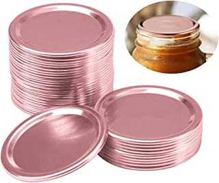 18 Pcs Canning Lids, 70MM Regular Mouth Mason Jar Lids, Stainless Steel Lids For Mason Jar Mouth, Split-type Lids, Leak Pr...