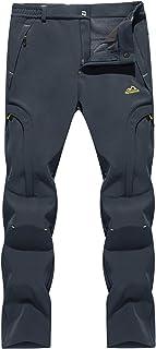 TACVASEN Women's Waterproof Pants-Outdoor Snow Sports Fleece Lined Ski Snowboard Pants(No Belt)