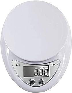 ZCY Mini báscula electrónica para Alimentos de Alta precisión con Plataforma Grande y Pantalla LCD, báscula electrónica de Bolsillo, 5 kg / 1g