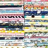 Qililandiy 200 pz Tessuti Stoffe Patchwork Tessuto Stampato Cotone 10 * 10 cm Tessuti e Stoffe a Metro Cotone Scampoli Stoffa Fatansia per Cucito Materiale per Hobby Creativo (10 * 10 cm)