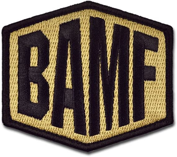 Manufacturer direct delivery BASTION Ranking TOP5 Morale Patches BAMF Colors Embroidered w 3D