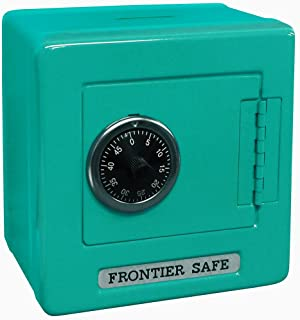 "Mini Lockers by Magnetic Impressions Kid's Frontier Safe Coin Saver Bank with 2 Digit Combination Lock - 5.25"" High x 5.2"" x 3.9"" Teal"