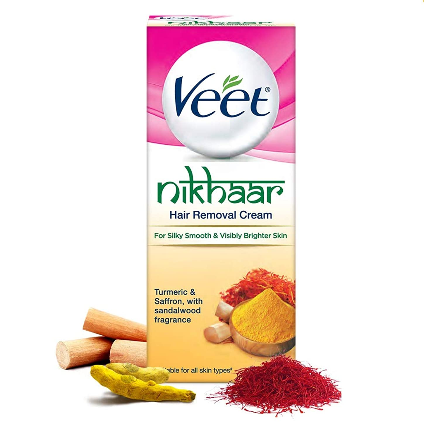 散髪店主メジャーVeet Nikhaar Hair Removal Cream for All Skin Types, 50g - India