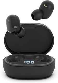Cuffie Bluetooth Senza Fili Auricolari in Ear con Microfono Riduzione del Rumore Sport Earbuds Stereo HD per Cellulari iPhone Samsung y Dispositivi Bluetooth (Nero)