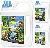 3 x 2,5 Liter COMPO Blaukorn NovaTec flüssig Universaldünger, NPK 8+8+6