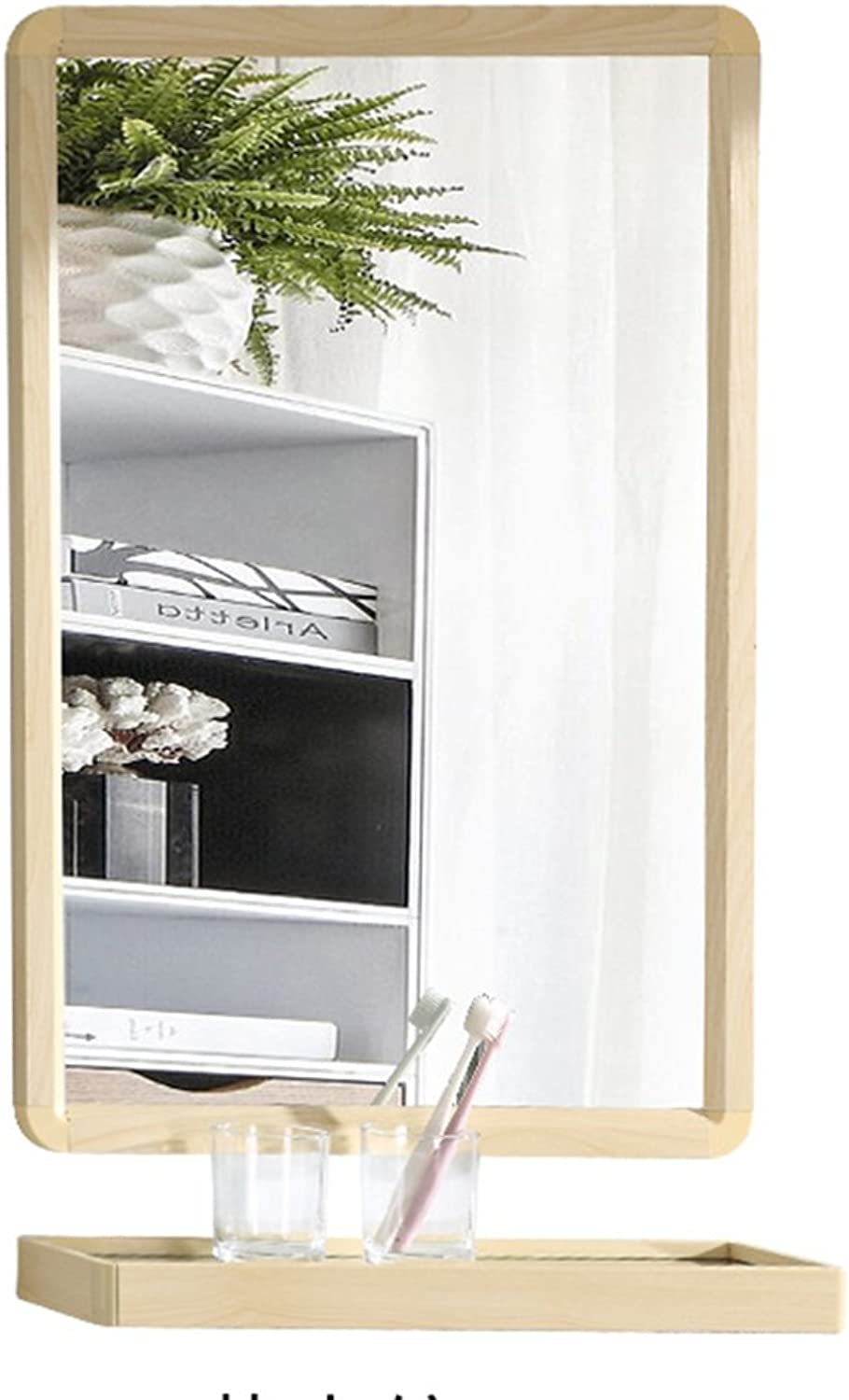 YANZHEN Mirror Wall-Mounted Storage Rack Simple Rectangular Space Aluminum Frame, 3 colors 2 Size