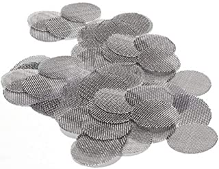 Garneck Stainless Steel Tobacco Pipe Screen Mesh Filter Tobacco Smoking Accessories 500Pcs (16mm)