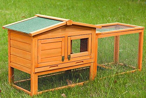 Life Carver, gabbia per conigli, con area di corsa, dimensioni: L 150 x P 42 x H 68 cm