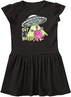 Cute Pink Alien UFO Baby T-Shirt inktastic Second Birthday