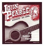 John Pearse 600L - Juego de cuerdas para guitarras acústicas (bronce fosforoso ligero)