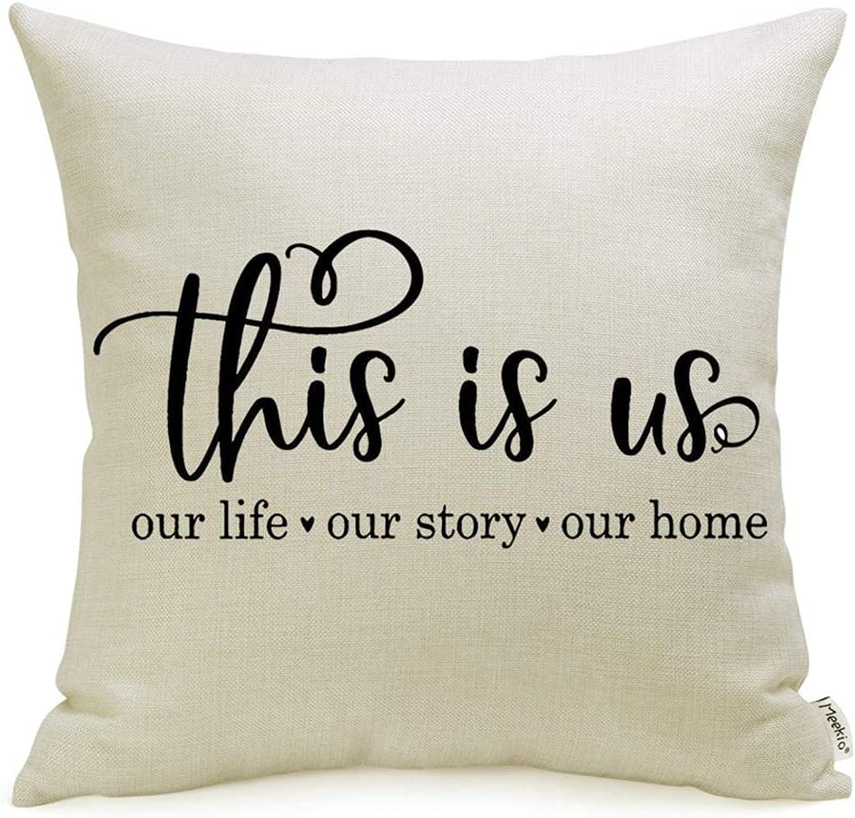 Meekio Farmhouse Pillow Covers with This is Us Quote 18