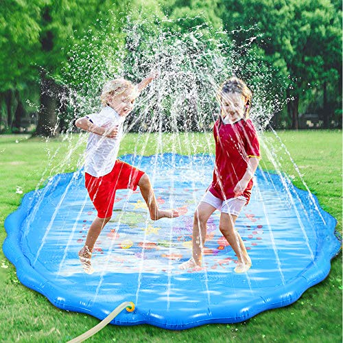Faburo 170cm Sprinkle and Splash Water Play Mat Set Summer Spray Water Toys...