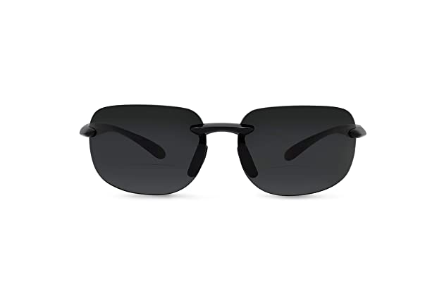 4802948b947 In Style Eyes Lovin Maui Wrap Polarized Nearly Invisible Line Bifocal  Sunglasses
