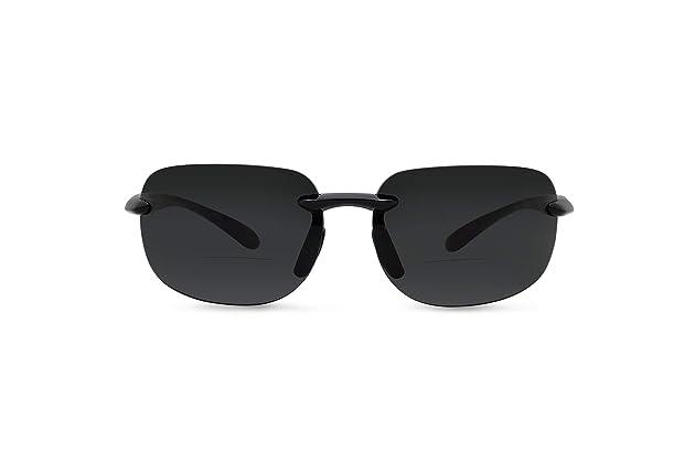 9b328549bab In Style Eyes Lovin Maui Wrap Polarized Nearly Invisible Line Bifocal  Sunglasses