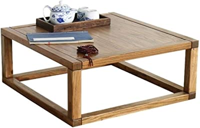 Coffee Table Small Solid Wood Table Tatami Coffee Table/Bay Window Table Small Square Table Modern Simple Solid Wood Low Table (Color : Brown, Size : 30 * 45 * 70cm)