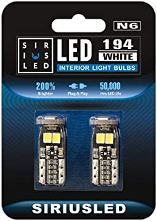 SiriusLED Extremely Bright 5730 Chipset LED Bulbs for Car Interior Lights License Plate Dome Map Side Marker Door Courtesy...