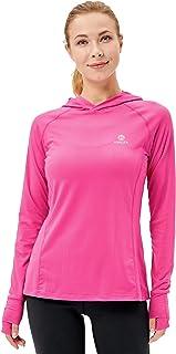 HMILES Womens Long Sleeve Running Tops with Thumb Holes Ladies Lightweight Gym Tshirts Female Sports Hoodie Raglan Sleeve ...