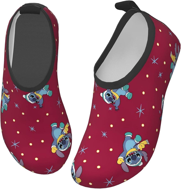 ZSCFBJM Stitch Toddler Kids Water Shoes Lightweight Barefoot Non-Slip Aqua Socks Beach Swimming Surf Walking for Boys Girls