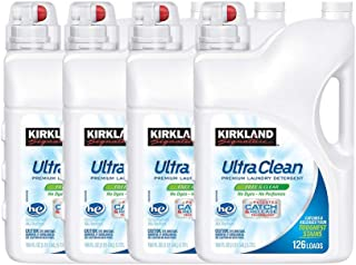 Kirkland Signature Ultra Clean Free & Clear HE Liquid Laundry Detergent (Pack of 4)