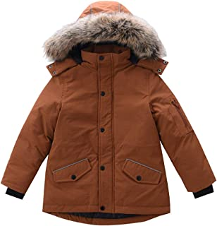 M2C Boys Water Resistant Winter Coat Thick Quilted Padded Jacket with Fur Hood