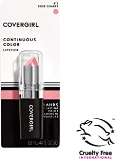 COVERGIRL Continuous Color Lipstick Rose Quartz 415, .13 oz (packaging may vary)