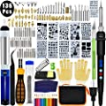 136PCS Wood Burning Kit, PETUOL Professional Soldering Iron Set with LCD Display Switch Adjustable Temperature 356-932 ?, Creative Tool DIY Kit for Embossing/Carving/Soldering & Pyrography Tips