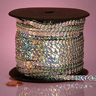 Silver Holographic Faceted Sequins, 6mm X 80Yd