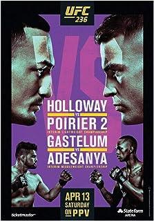 Xiongda Holloway Vs Poirier 2 Fight Event Ufc 236 Pintura Art Poster Print Canvas Decoración para el hogar Picture Wall Print-20X28 Inch Sin marco
