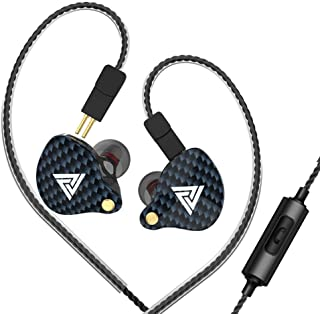 Docooler QKZ VK4 3.5mm Wired Headphones in-Ear Sports Headset Moving Coil Music Earphones in-line Control with Mic Detachable Replaced Cable