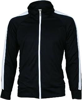 Angel Cola Men's Retro Stripes Full Zip-up Track Top Jacket