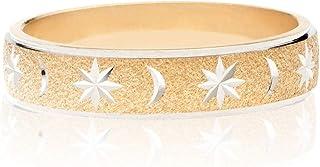 MiaBella 925 纯银月亮和星星形戒指,意大利制造