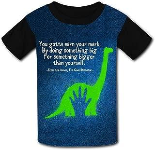 QIANBAIHUI Kids Youth Green Dinosaur 3D Printed Crew Neck T-Shirt Tees