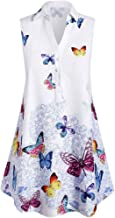 NANTE Top Casual Loose Blouse Sleeveless Butterfly Print T Shirts Tops Shirt Pullover Women Clothes Womens Clothing Costume