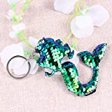 NUOBESTY 1pcs Sequins Mermaid Keychain Stylish Mermaid Shiny Cute Bag Pendant Keyring Dekoration Kreative Geschenkparty Favor -