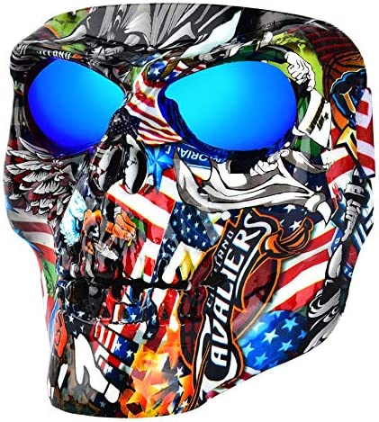 BOLLFO Airsoft Skull Mask Protective Full Face Tactical Mask for CS Airsoft Shooting Halloween product image