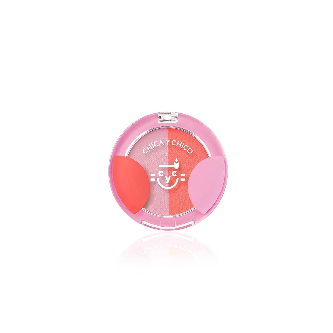 ビジター女の子光沢のある[チカイチコ]ワンタッチデュオチーク2号(ピンクインディアンダンシング)■高発色