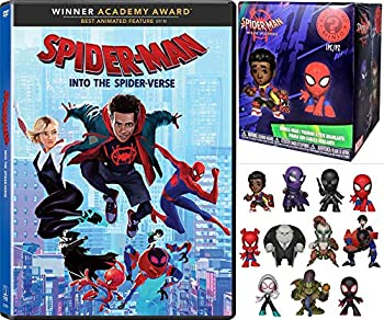 The Coolest Spideyverse Movie W/ Figure Bundle  Spider-Man Into The Spiderverse DVD + Funko Mystery Minis Spiderverse Blind Box