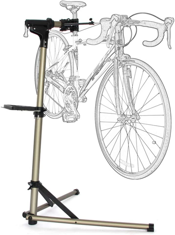 GYFHMY Fashionable Bike Repair Stand Workstation - Aluminu Deluxe Adjustable Height