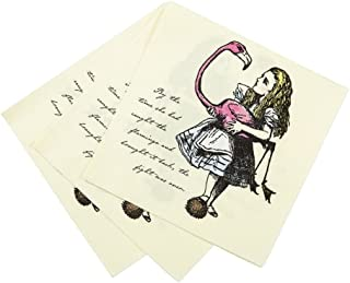Talking Tables Alice In Wonderland Party Supplies | Vintage Floral Paper Napkins | Great For Mad Hatter Tea Party, Birthday Party And Baby Shower | 20 Pack