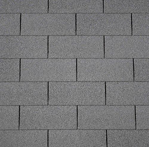 Dachschindeln RECHTECK 3 m² mit Glasvlieseinlage Bitumenschindeln Schindeln Dacheindeckung Gartenhaus Dacheindeckung Rechteckschindeln (Schwarz)