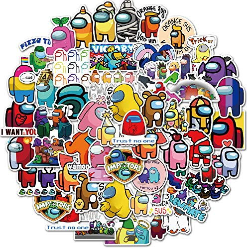 Among Us Game Stickers 50PCs Cartoon Cute Vinyl Stickers Waterproof for Laptop Phone Water Bottle Luggage Case Stickers for Adult Teens Kids
