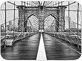 JISMUCI Tappetino scolapiatti assorbente Vintage Ponte di Brooklyn Scena di neve New York City Microfibra Pads Tappetino lavello cucina pieghevole Resistente al Calore 40.6x45.7cm