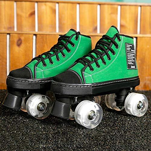 Y-H Rollschuhe für Damen & Herren Classic Quad Artistic Rollschuhe für Eisbahn und Rythmic Skating