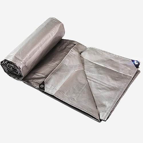 LBYMYB épaissie Poncho Bache Bache Pare-Soleil Crème Solaire Tricycle Couverture Bache en Tissu Enduit Argent Poncho Bache extérieure (Couleur   argent, Taille   10x10m)